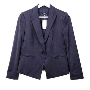 New Ann Taylor Suit Blazer 6P Navy Pinstripes